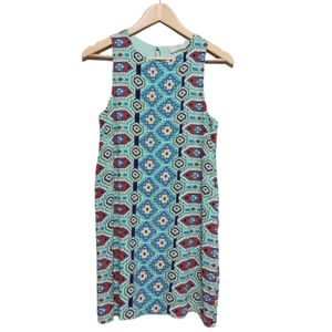 Everly blue Pattern Sleevless Casual Dress